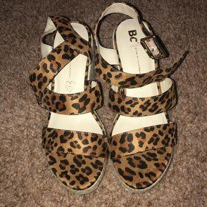 Shoes - Cheetah Print Wedges